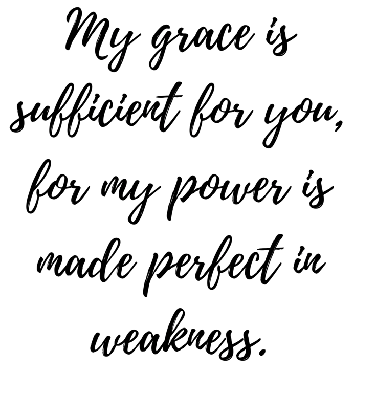 When we as women feel unworthy, scripture points us to the grace of Jesus. His grace is sufficient for us, for his power is made perfect in weakness.