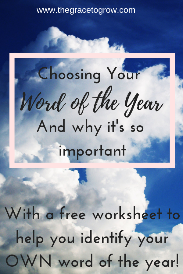 Why is choosing a word of the year so important? So that you can stop drifting and start DOING! A free worksheet to help you identify your 'word of the year' is included to get you started! #newyear #wordoftheyear #personaldevelopment #personalgrowth #faith