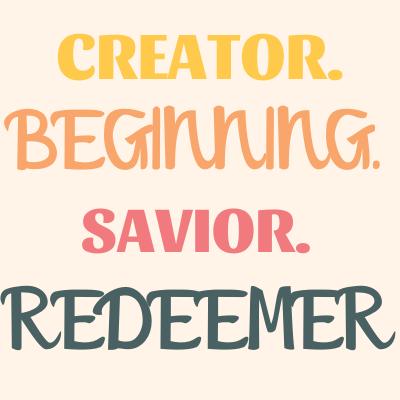 Jesus-is-the-creator-beginning-savior-redeemer